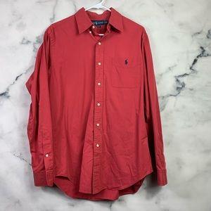 Ralph Lauren Red Button Down Shirt